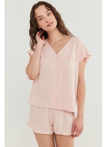 Penti Kadın Somon Gorgeous  Pijama Takım PN4JXPSO21IY Oranj